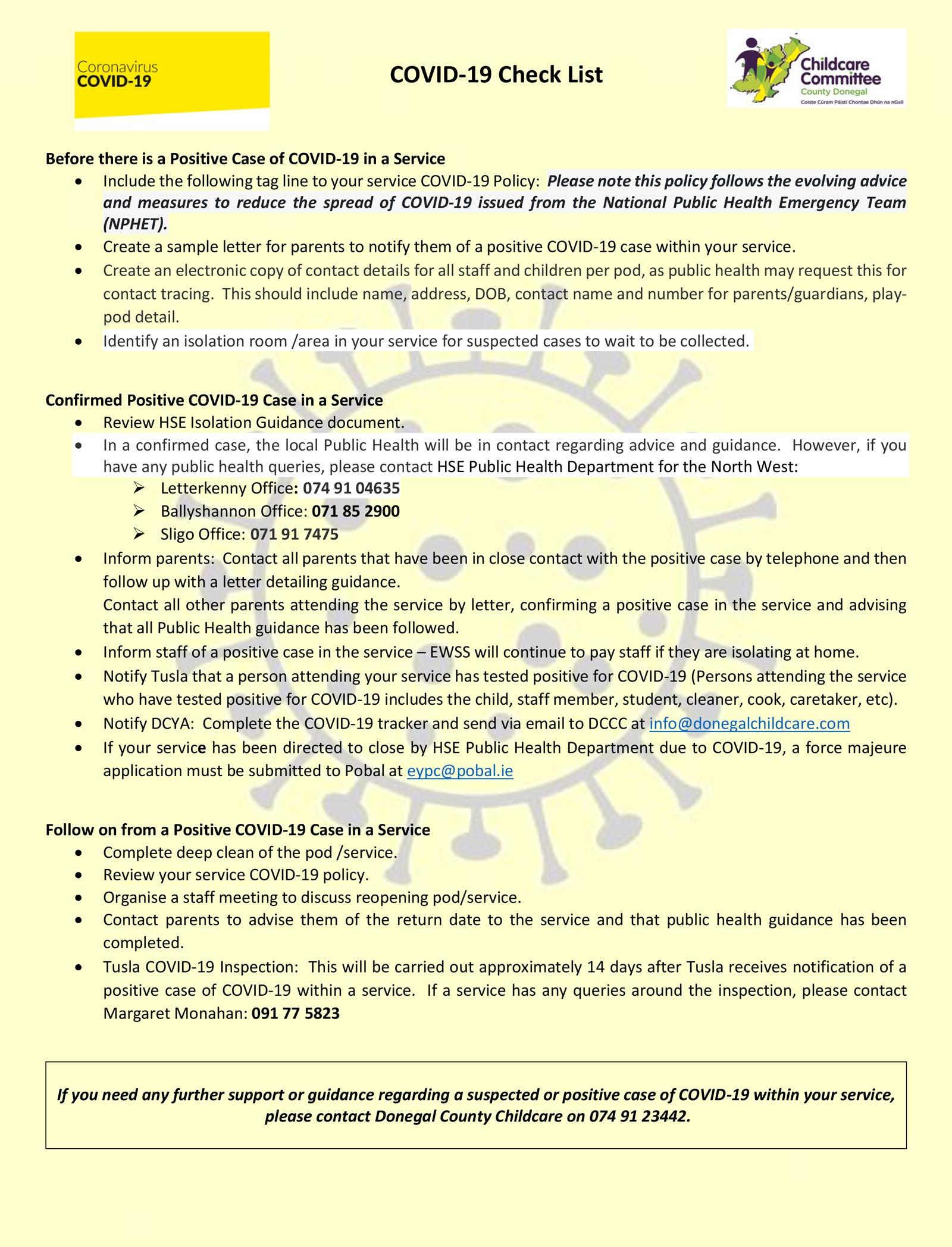 Covid 19 Checklist 1