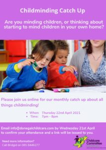 Childminding Event 22nd April 21