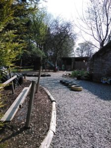 The outdoor area 1 2