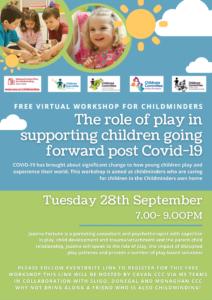 Childminder Workshop 28th Sept